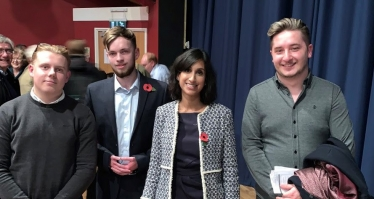 Claire Coutinho with some of the East Surrey Young Conservatives